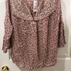 Abercrombie & Fitch long sleeve floral top